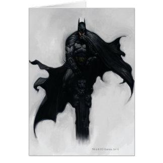 Batman-Illustration Grußkarte