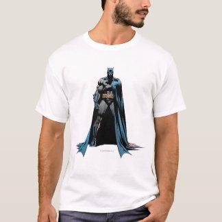 Batman-Kap über einer Seite T-Shirt