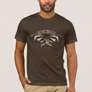 Batman-Schädel-Hauben-Flügel-Logo T-Shirt