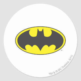 Batman-Schläger-Logo-Oval Runder Aufkleber
