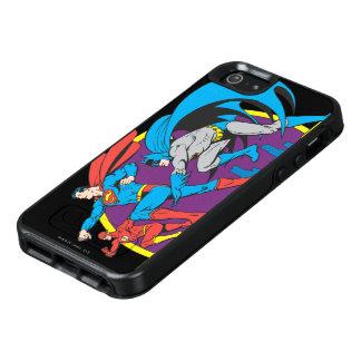 Batman + Supermann + Blitz OtterBox iPhone 5/5s/SE Hülle