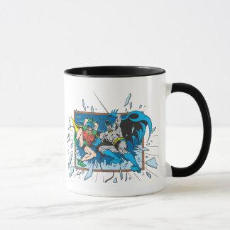 Batman u. Robin-Trümmer-Fenster Tasse