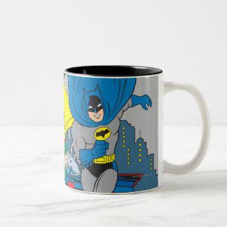 Batman und Robin-Betrieb Zweifarbige Tasse