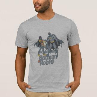 Batman und Robin beunruhigte Grafik T-Shirt