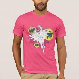 Batman und Schläger-Symbol-Grafik T-Shirt