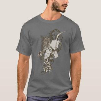 Batman und verzierter Buchstabe B T-Shirt
