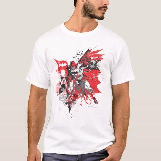 Batmanschwarzes und -GRAU T-Shirt