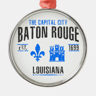 Baton Rouge Silbernes Ornament