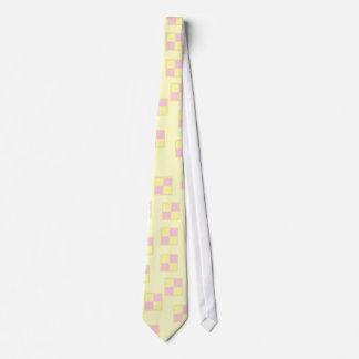 Battenburg Kuchen-Muster. Rosa und Gelb Individuelle Krawatten