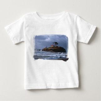 Batterie-Punkt-Leuchtturm u. Möven-Säugling T Baby T-shirt