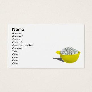 Bau-Hut voll des Geldes Visitenkarte