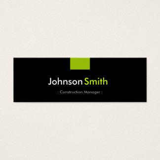 Bau-Manager - tadelloser grüner Vertrag Mini Visitenkarte