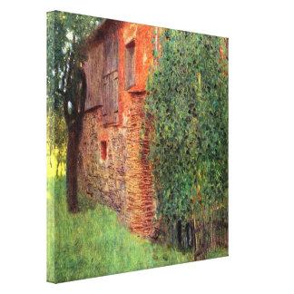 Bauernhaus bei Kammer durch Gustav Klimt, Vintage Leinwanddruck