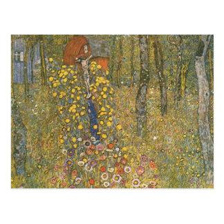 Bauernhof-Garten Gustav Klimt- mit Kruzifix Postkarte