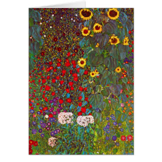 Bauernhof-Garten Gustav Klimt mit Mitteilungskarte