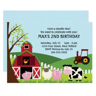 Bauernhof-Kindergeburtstag 12,7 X 17,8 Cm Einladungskarte