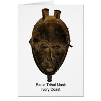 Baule Stammes- Masken-Anmerkungs-Karte Mitteilungskarte