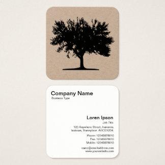 Baum 04 quadratische visitenkarte