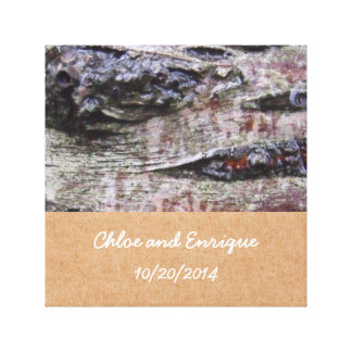Baum-Barken-Foto-personalisierte Hochzeit Galerie Gefaltete Leinwand
