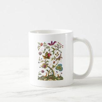 Baum der Leben-Jacobean Stickerei Kaffeetasse