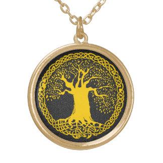 Baum der Leben-Tätowierung Vergoldete Kette