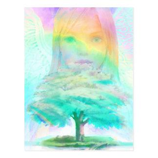 Baum des Leben-Licht-Engels Postkarten