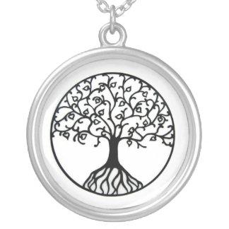 Baum des Lebens Versilberte Kette