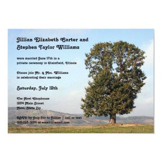 Baum-Foto - Hochzeits-Mitteilung 12,7 X 17,8 Cm Einladungskarte