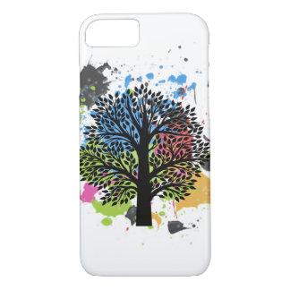 Baum in den Farben iPhone 8/7 Hülle