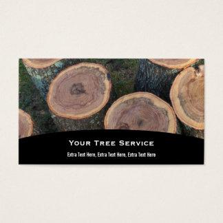 Baum-Klotz-Visitenkarte Visitenkarte
