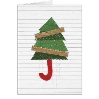 Baum-Regenschirm Notecard Karte