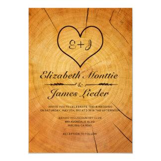 Baum-Ring-Hochzeits-Einladungen 12,7 X 17,8 Cm Einladungskarte
