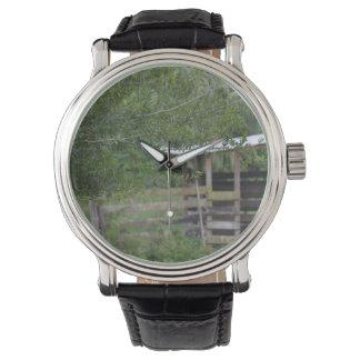 Baum und altes Scheunenflorida-Foto Armbanduhr