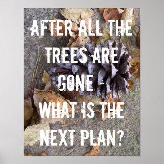 Baum-Walderhaltungs-ErdKlimawandel Poster