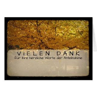 Bäume im Herbst Kartengruss mit Vielen Dank 2 Grußkarte