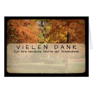 Bäume im Herbst Kartengruss mit Vielen Dank Grußkarte