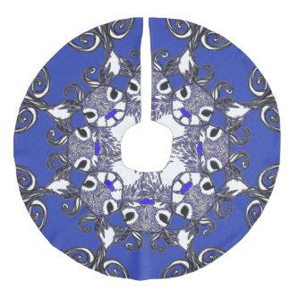 Baumrock Bluenoser blaues Nase Ren-Rotwildblau Leinenimitat Weihnachtsbaumdecke