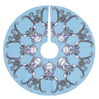 Baumrock Bluenoser Ren-Rotwildschneeflocke Polyester Weihnachtsbaumdecke