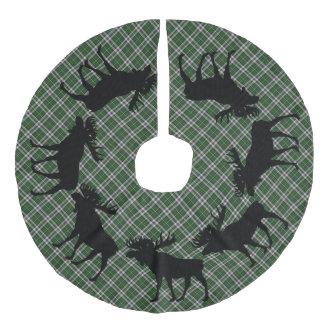 Baumrock Weihnachtskap bretonische Tartanelche Leinenimitat Weihnachtsbaumdecke