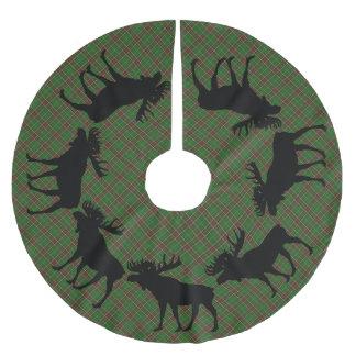 Baumrock Weihnachtsneufundlandtartanelche Polyester Weihnachtsbaumdecke
