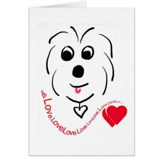 Baumwolle de Tulear Love Karte