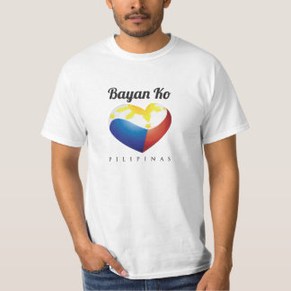 Bayan Ko Pilipinas, Herz-Flagge T-Shirt