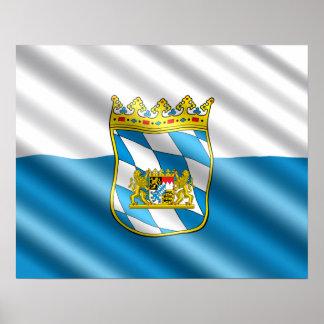 Bayerische Flagge Poster