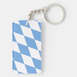 Bayerische Rautenflagge Beidseitiger Rechteckiger Acryl Schlüsselanhänger