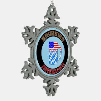 Bayerische Schneeflocken Zinn-Ornament