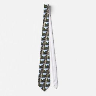 Bayerische StadtStraßenecke-Szene Bedruckte Krawatten
