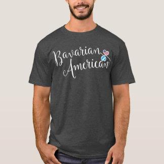 Bayerischer Amerikaner Entwinted Herz-T - Shirt