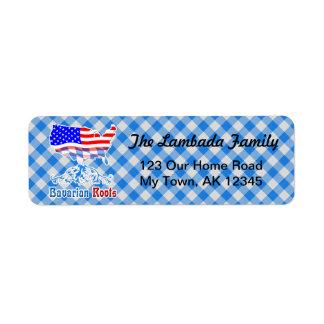 Bayerischer Amerikaner wurzelt Adressen-Etiketten