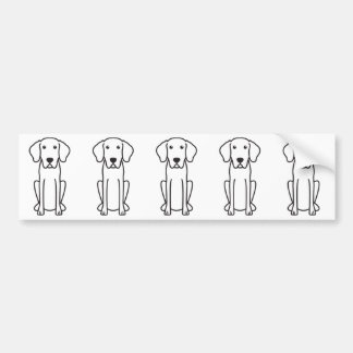 Bayerischer Gebirgsjagdhund-HundeCartoon Autoaufkleber