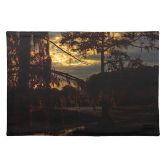 Bayou-Sonnenuntergang-Reflexion Tischset
